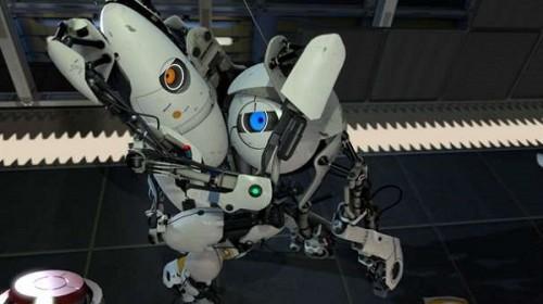 portal 2 robots hugging. emancipate Portal 2 from