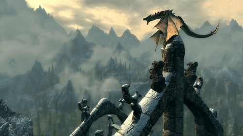 elder scrolls 5 skyrim dragon