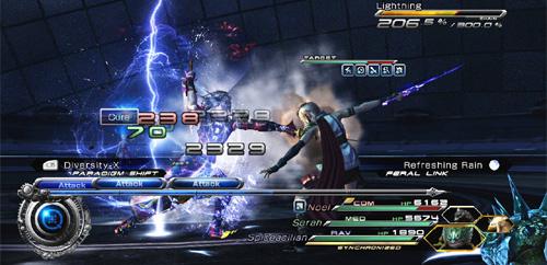 Final Fantasy 13-2 battles